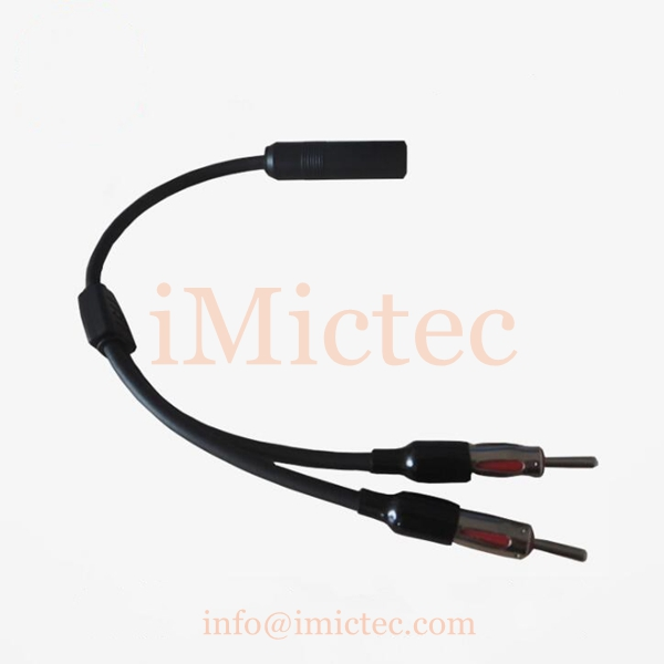 Automotive antennas 1 Female to 2 Male  Y splitter cable