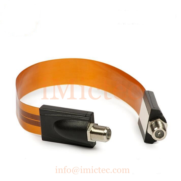 Window through F head female to female monitoring accessories connection flat Cable